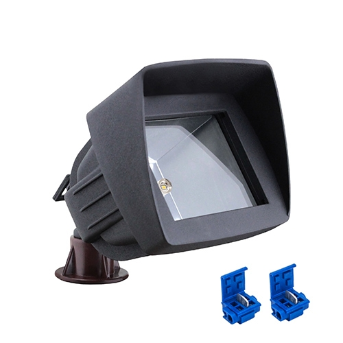 LED LED-6011-BK black outdoor landscape lighting hooded flood light low voltage