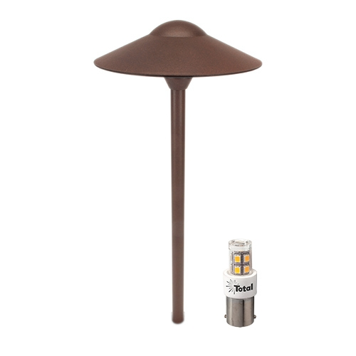 Rust LED low voltage outdoor landscape lighting hat path light LED-S215-RU