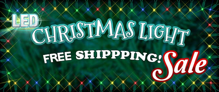 LED Christmas Light Sale - Free Shipping