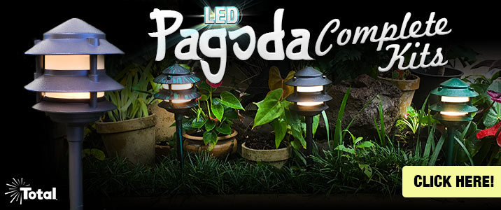 Complete LED Outdoor Landscape Lighting Pagoda Kits