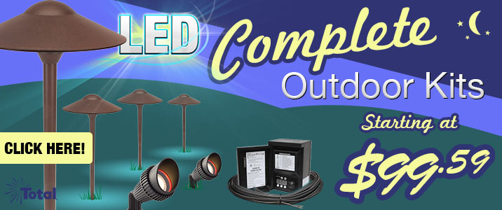 Complete LED Outdoor Landscape Lighting Kits