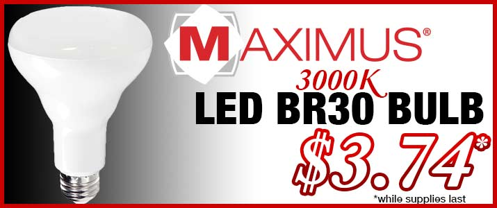 Maximus LED BR30 3000K Light Bulb Sale