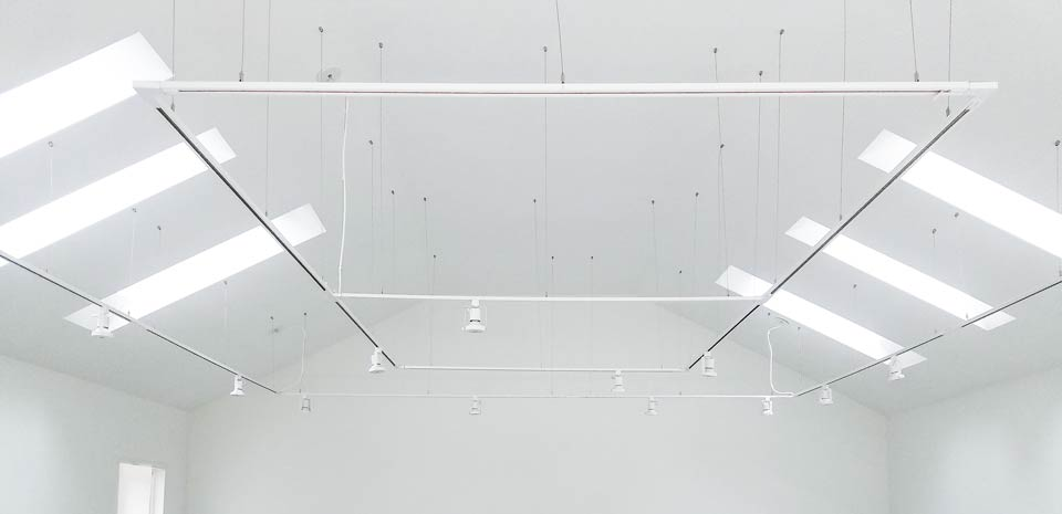 Hang track lighting from virtually any ceiling - sloped ceilings, curved ceilings, high ceilings, uneven ceilings, in hard to reach places and around obstacles.
